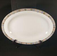 """Vintage K.T. & K S-V China Pastel Floral Serving Platter 14.5"""""""