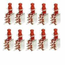 10 X 25 x 13mm x 7mm Latching Locking PCB Push Button Switch DPDT 6 Pin DIP