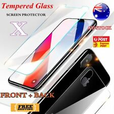 Front and Back Tempered Glass Screen Protector Film Clear 9H For iPhone X Apple