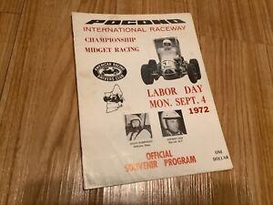 1972 POCONO INTERNATIONAL RACEWAY CHAMPIONSHIP MIDGET RACING PROGRAM