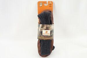 Acorn Unisex Original Slipper Sock Charcoal Ragg Wool Size XXL Men's 12-13