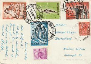 1964 San Marino card sent to Bochum Germany