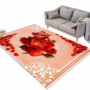 Esha Large Carpets For Bedroom Flower Living Room Floor Mat Pink Center Rug