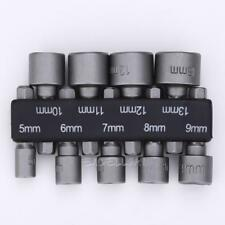 "5-13mm Steel Power Nut Driver Drill Bit Set 1/4"" Hex Shank Metric Socket Wrench"