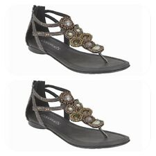 Coconuts By Matisse Embellished Criss Cross Ankle Cuff Sandals Size 7 NWOB