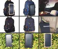 Backpack W/Solar panel Charger USB Charging bag travel Camping,School hiking*