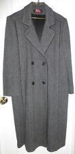 ALORNA Womens Lined Double Breasted Herringbone Wool Blend Coat