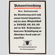 Klaus Staeck: Bekanntmachung zum Radikalenerlaß...