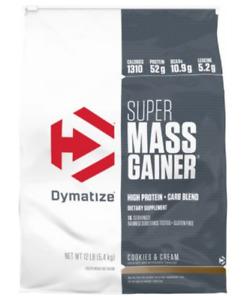Dymatize Super Mass Gainer Massive Gains with Calories Carbs Vitamins 6,12 Lbs