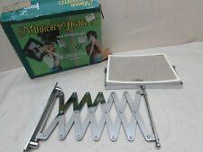 Vintage 1980s Jerdon 2 Sided Magnified Bath Beauty Extension Mirror Scissor