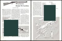 WINCHESTER Model 94 Carbine Exploded View Parts List 2-page Assembly Article
