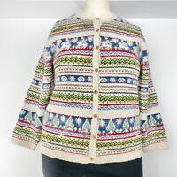 Marisa Christina cardigan sweater holiday winter linen cotton wool vintage XL