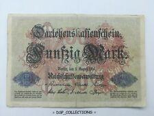 Banknote / Billet GERMANY, ALLEMAGNE 50 MARK 1914 WW1 ✅