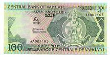 Vanuatu  100 vatu 1982 serie AA    FDS UNC   Pick 1 a     Lotto 3464