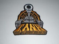 TANK NWOBHM HEAVY METAL IRON ON EMBROIDERED PATCH