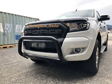 Ford Ranger 2012-2018 Nudge Bar Skid Plate Black Fit Wildtrak with Front Sensors