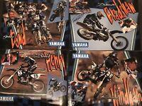 Vintage MX - 1996 Factory Yamaha Team Posters - Signed Bradshaw & Dowd - Rare