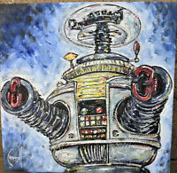 LOST IN SPACE B9 YM-3 NEW ICON Robot 8x8 oil Painting original signed CROWELL US