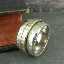 Silpada - Wide Hammered Sterling Silver Band Spinning Ring