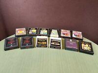 Atari 2600 Vintage Collection Various Titles Video Game Cartridges