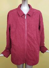 Woolrich Womens Red Fully  lined zipper Quilted Jacket Size L