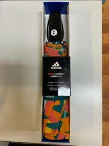 "adidas Sport Compact Umbrella 46"" Fiberglass Nanoskin Automatic Open Geometric"