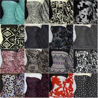 Premium Quality Printed Viscose Rayon Cotton Stretch Lycra Fabric Material