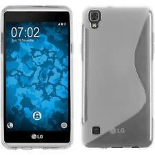 GUSCIO IN SILICONE PER LG X SKIN CLEAR S-Style + 2 Pellicole Protezione