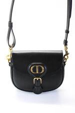 Christian Dior 2020 Pequeño Bolso De Cuero Bandolera Bobby Cartera De Mano Negro Oro Tono