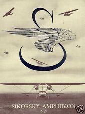 Sikorsky S-38 Flying Boat Sea Plane 1930's Manual & Brochure Historic Archive