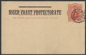 Niger Coast Protectorate QV Queen Victoria 1d postal card unused