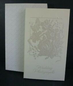 VTG 1984 Hallmark Embossed Ivory Wedding Photo Album Holds 48 3x5's NOS