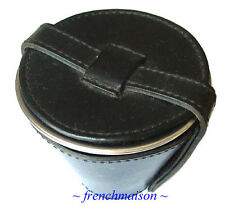 Geo F. Trumper London Black Leather Travel Holder+3 Wine Cups Father's Day Gift