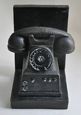 Old Phone Bookend Rotary Dial Telephone Book End Vintage Antique Style Decor