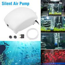 More details for oxygen air pump silent aquarium fish tank bubble stone aquatic supplies uk plug