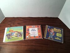 Lot Of 3 Kids Silly Songs CD Disney Pixar Toy Story CD Bob The Builder Album