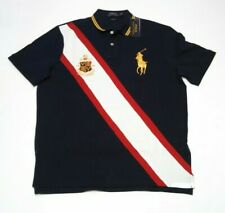 Mens Ralph Lauren Big Pony Crest Polo Large Short Sleeve Classic Fit Embroidered