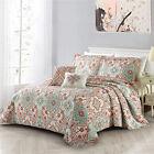 Quilt+Queen+Size+Coral+5+Piece+Microfiber+Lightweight+Soft+Bedspread+Coverlet
