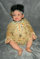 """ADORA 2008 COLLECTIBLE NATIVE AMERICAN INDIAN DOLL PAPOOSE LIMITED EDITION 22"""""""