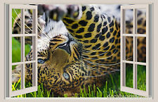 Leopard Claws Window View Repositionable Color Wall Sticker Wall Mural 3 FT WIDE