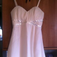 BNWT LIPSY BANDEAU CREAM EMBELLISHED MAXI DRESS WITH FRONT SIDE SPLIT UK 12 £75