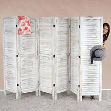 Paravent Room Divider, 170x276x2 cm, shabby-look, vintage, white