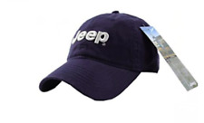 Blue Jeep Embroidered Logo Solid Color Adjustable Hat Cap New Free Shipping USA