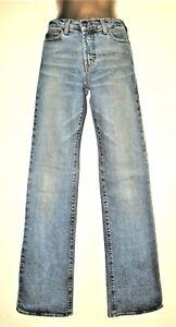 "ROBERTO CAVALLI 26 / 40 / 8 Fabulous Vintage Blue Denim Jeans W26.5"" L34"""