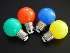 LED Tropfen Lampe Glühlampe 1w E27 Lichterketten Bier Garten 4er Pack #7120