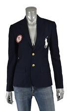 Ralph Lauren Olympic Team Jacket Womens 6 Blue White Big Pony Wool