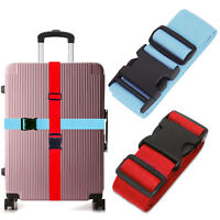 """Premium Heavy Duty Luggage Strap For Suitcase 16""""~32"""" - Blue, Red - 1/2/4 Pack"""