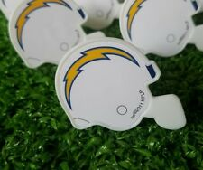 LA Chargers Cupcake Toppers Rings Birthday Cake NFL Lot of 12 Mini Helmets