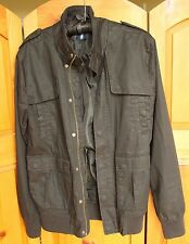 H&M Divided Mens Black Coat Jacket Small Cotton