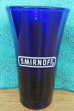 SMIRNOFF    COBALT BLUE FLUTED SHOT GLASS